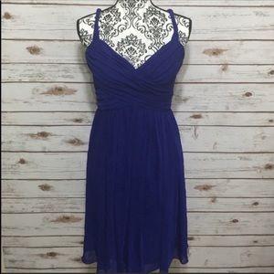 London Times Blueish Purple Flowy Sleeveless Dress